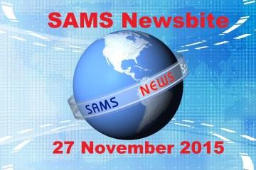 SAMS St Helena News Report . 27 Nov 2015