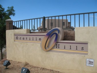 Ocotillo Hills Entry Monument 3