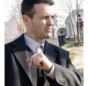 2004 – Radu Muresan la inmormantarea tatalui sau, care a murit tot de la aceeasi boala
