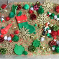 Christmas Peppermint Sensory Bin