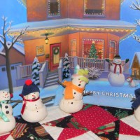 Salt Dough Snowmen at Christmas