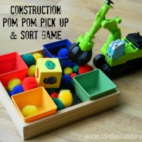 Construction Pom Pom Pick Up & Sort Game