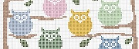 free owl cross stitch pattern