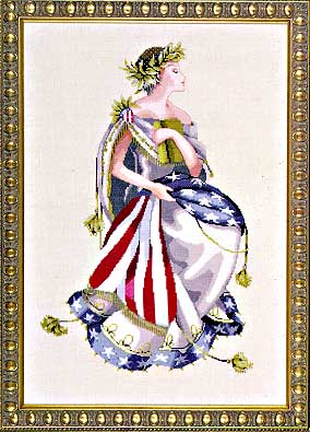 Queen of Freedom cross stitch pattern by Mirabilia