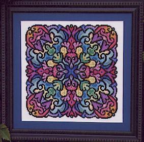 Kaleidoscope mandala cross stitch from Ink Circles