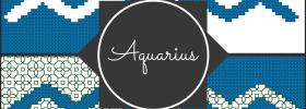 Aquarius Zodiac Blocks for Cross Stitch and Blackwork