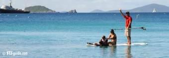 Paddleboarding on St. John