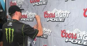 Busch signs Pole poster