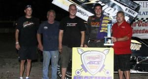 Jonathan Cornell was the class of the field with the Speedway Motors ASCS Warrior Region at the Scotland County Speedway. It marked the first time Sprint Cars had competed at the Missouri oval since 2001. (ASCS / Danny Howk)