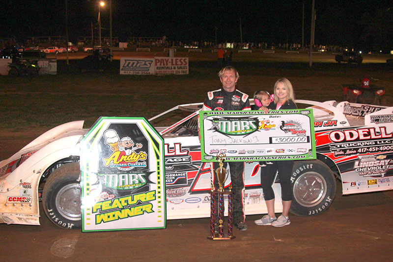 Tony Jackson, Jr. takes Tony Roper Memorial MARS DIRTcar Series win at Monett Speedway!