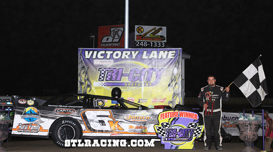 Michael Kloos, Nick Hoffman, Trey Harris, A.J. Cline & Rickey Carriker take wins at Tri-City Speedway!