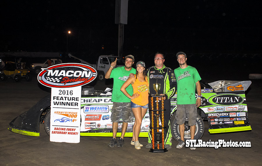 Feger Takes Kerbystrong 100 at Macon Speedway