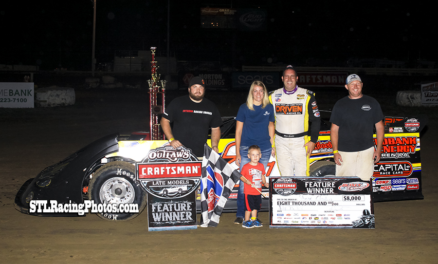 Shane Clanton grabs Quincy Raceway Outlaws win!