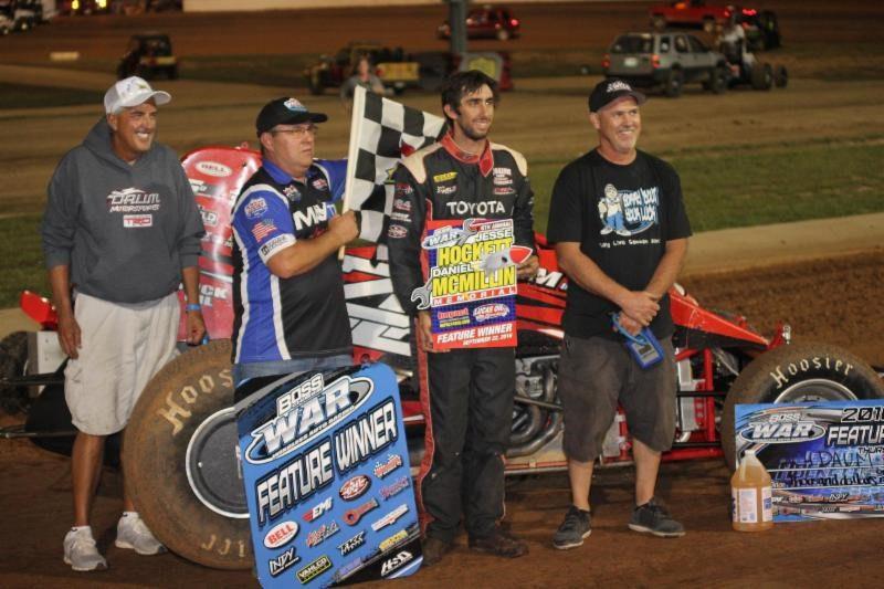 Herrera, Daum prevail as Hockett/McMillin Memorial opens at Lucas Oil Speedway