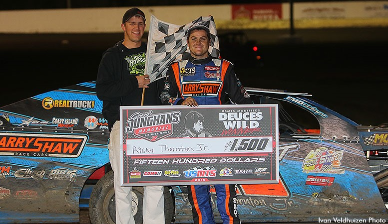 "Thornton, Marrant deal ""Deuces Wild"" victories at Lakeside Speedway"