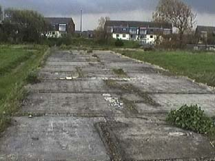 New Romney wing foundations, showing partitions