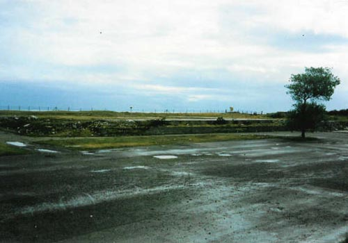 Motel foundations are all that remain, September 1990
