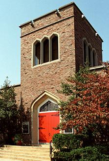 Front door of St. Mary's