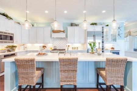 coastal kitchen white shaker