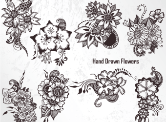 hand-drawn-flowers-vector-photoshop-brushes-set-1