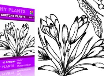 vector_brush_sketchy_plants_1
