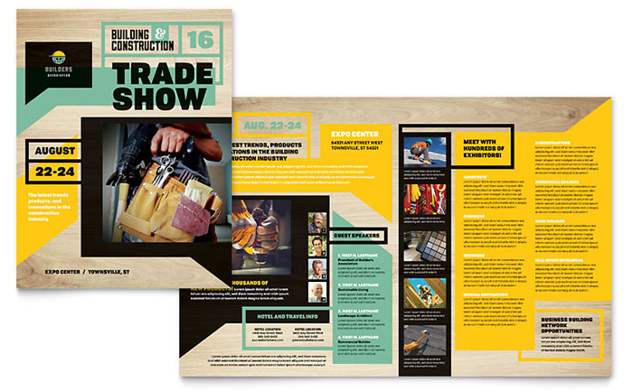 Publisher Templates   Brochures  Flyers  Newsletters  Postcards Builder s Trade Show Brochure