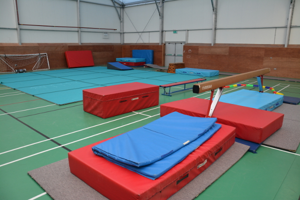 The Offerton Centre. Not shown in this view are the bars, the trampoline and the trampet run
