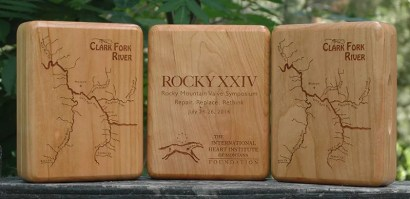 International Heart Institute Corporate Event River Map Fly Boxes