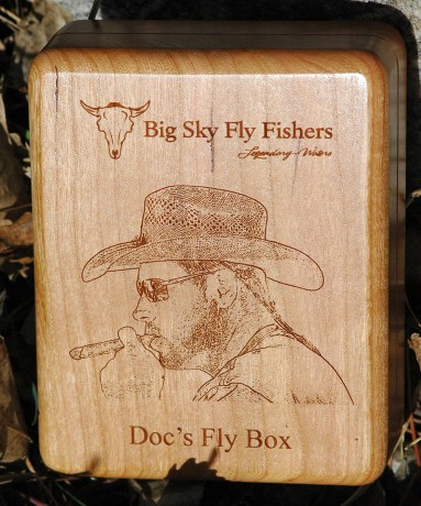 Custom Photo River Map Fly Box Back