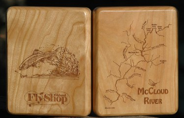 McCloud River Map Fly Box Customized
