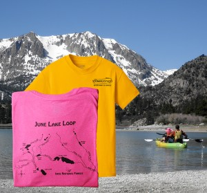 June Lake Loop River Map T-Shirt
