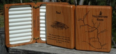 Yellowstone River Map Fly Box