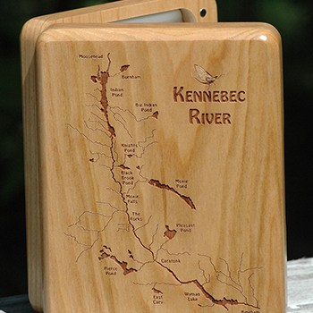 WEEKLY SPECIAL – KENNEBEC RIVER MAP FLY BOX on SALE $69.99 (reg. price $89.99) 10/30-11/12/2017 FLY FISHING THE KENNEBEC RIVER IN MAINE