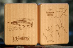 Custom Klamath River Map Fly Box