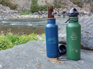 River Map Cold Beer Bottle Holders