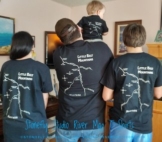 Family Cabin River Map T-Shirts