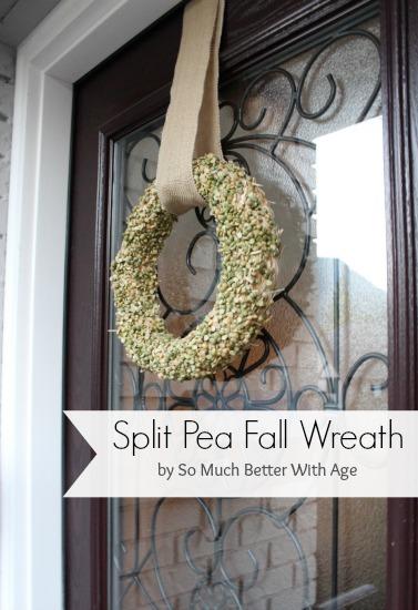 Split Pea Wreath www.somuchbetterwithage.com