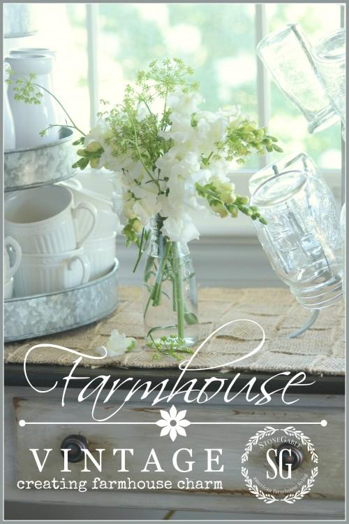 FARMHOUSE VINTAGE-small touches to create farmhouse charm-stonegableblog