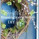 BEAUTIFUL BRAMBLY SPRING WREATH DIY