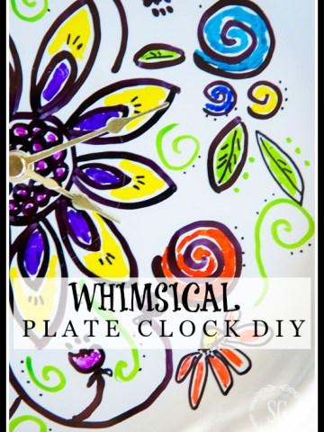 WHIMSICAL PLATE CLOCK DIY