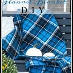 COZY FLANNEL BLANKET DIY