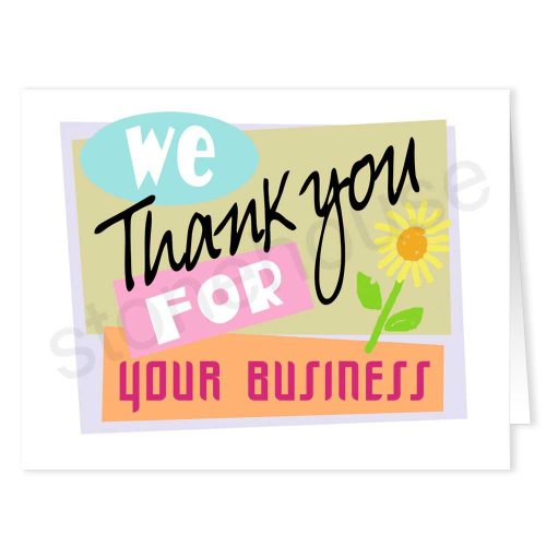Medium Of Business Thank You Cards