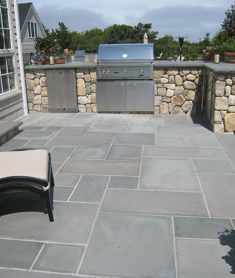 Intriguing Rmal Bluestone Patio Pavers Pa Nantucket Cape Cod Boston Rmal Bluestone Pavers Pennsylvania Landscape Cape Cod Ny Ct Blue Stone Pavers Cost Bluestone Pavers houzz-02 Blue Stone Pavers