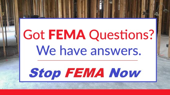 stop fema now louisiana flood header