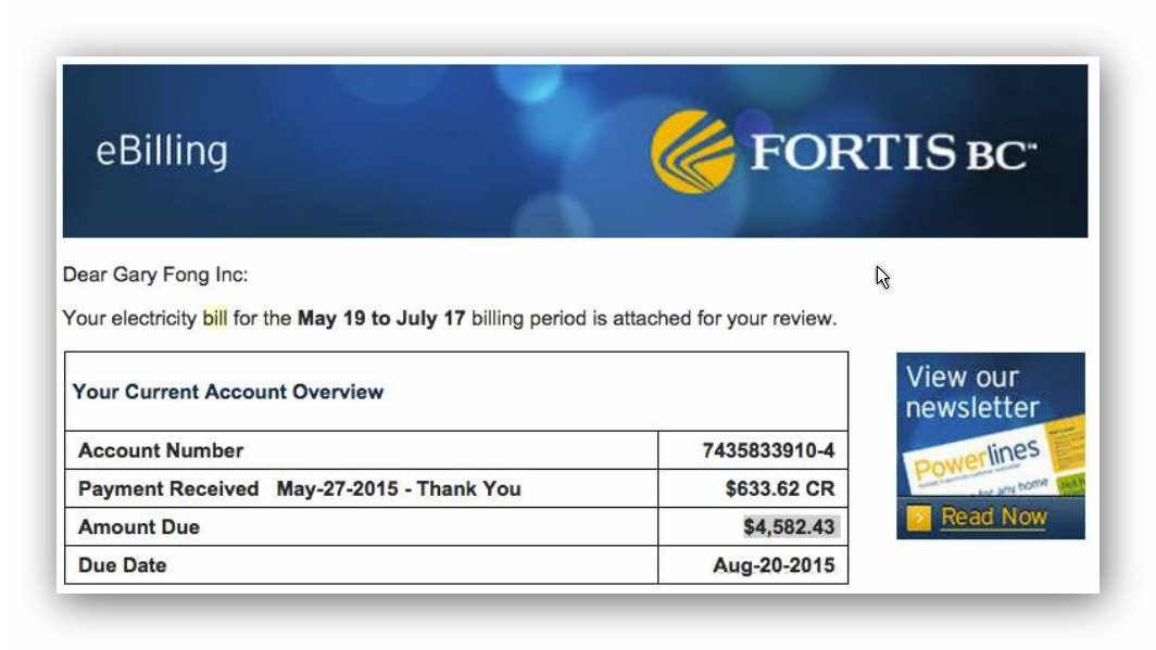 2015 07 24 huge bill from fortis for home that is no more coalition to stop smart meters in bc - Electricity bill highcommon mistakes might making ...