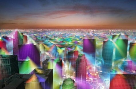 City showing WIFI