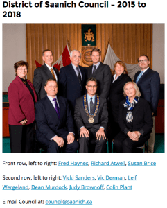District of Saanich Council