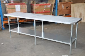 2438mm stainless steel bench