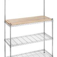 Whitmor 6054-268 Supreme Bakers Rack, Chrome and Wood