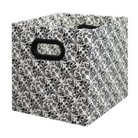 Bankers Box Home Organization, Cubby Storage Bin, Black and White, 2 Pack (2820601)